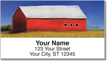Barns Close Up Address Labels