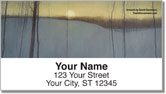 Moon Painting Address Labels