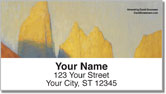 Mountain Painting Address Labels