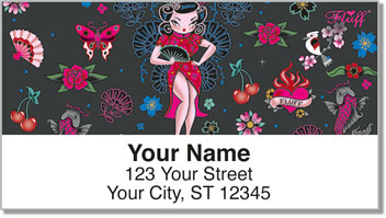 Geisha Girl Address Labels