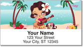 Hula Lulu Address Labels
