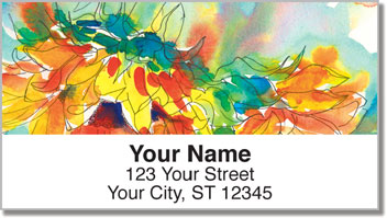 Watts Sunflower Address Labels