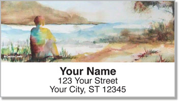 Water Landscape Address Labels