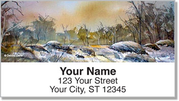 Night and Day Landscape Address Labels