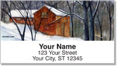 Snow Landscape Address Labels