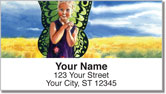 Girl Portrait Address Labels