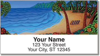 Hawaiian Flavor Address Labels
