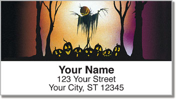 Scary Scarecrow Address Labels