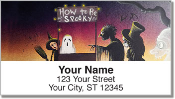 Halloween Art Address Labels