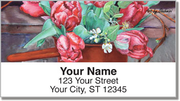 Shahmiri Flowers Address Labels