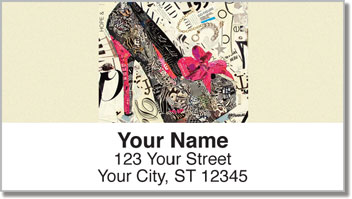 High Heel Address Labels