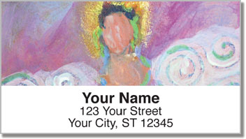 Painted Figure Address Labels