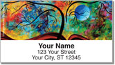 Bold Landscape Address Labels
