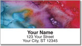 Liquid Abstract Address Labels