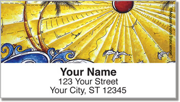 Tropical Artwork Address Labels