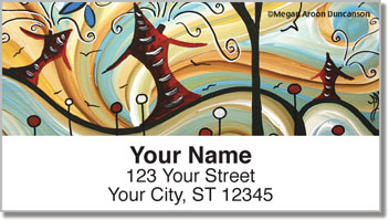 Whimsical House Address Labels