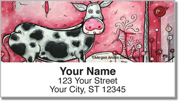 I Love Moo Address Labels