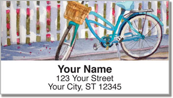 Bicycle Art Address Labels