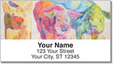 Kay Smith Pig Address Labels