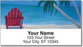 Beach Art Address Labels