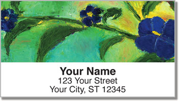 Floral Art Address Labels