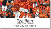 Bodybuilding Character Address Labels