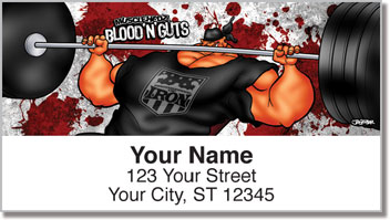 Hardcore Lifting Address Labels