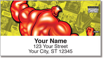 Pumped Up Pose Address Labels
