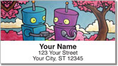 Robots In Love Address Labels