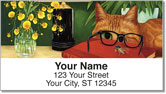 Contemplating Cats 2 Address Labels