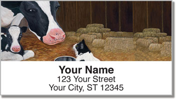 Contemplating Cats 3 Address Labels