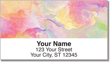 Floral Abstract Address Labels