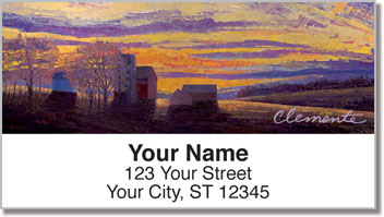 Lovely Sunset Address Labels