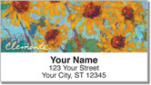Clemente Sunflower Address Labels