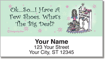 Shoe Lover Address Labels