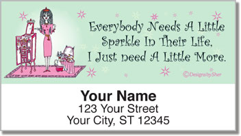Shopping Lover Address Labels