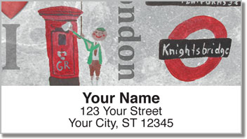 I Love London Address Labels