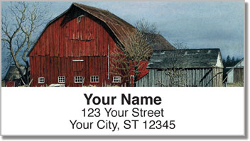 Winter Farm Address Labels