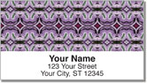 Purple Pattern Address Labels