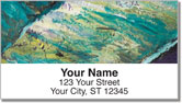 Vacation Abstract Address Labels