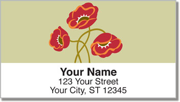 Poppy Dance Address Labels