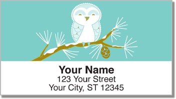 Snow Owl Address Labels