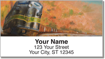 Classic Diesel Locomotive Address Labels