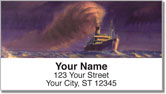 Steamship Address Labels