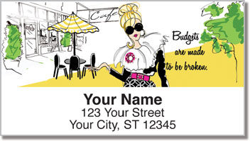 Working Girl Budget Address Labels