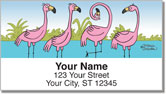 Scrivan Flamingos Address Labels