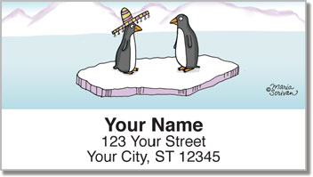 Scrivan Penguins Address Labels