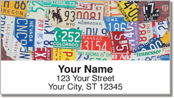 California License Plate Address Labels