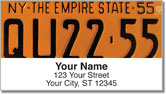 New York License Plate Address Labels
