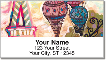 Paris Romance Address Labels
